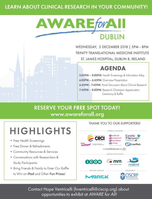 AWARE Dublin Flyer 2018