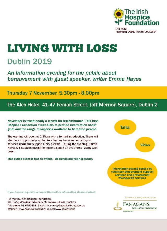 'Living with Loss' Dublin November Event